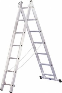 Двухсекционная алюминиевая лестница 2х12
