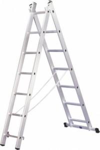 Двухсекционная алюминиевая лестница 2х8