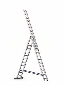 Трёхсекционная алюминиевая лестница 3х9