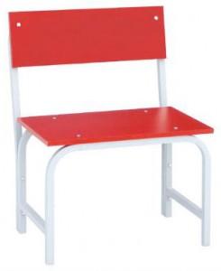 Скамья гардеробная со спинкой 500 (ЛДСП) красная
