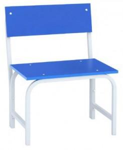 Скамья гардеробная со спинкой 500 (ЛДСП) синяя