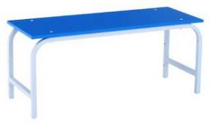 Скамья гардеробная 1000 (ЛДСП) синяя