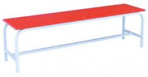 Скамья гардеробная 1500 (ЛДСП) красная