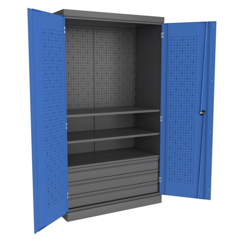 Металлические инструментальные шкафы PROFFI (без перегородки)