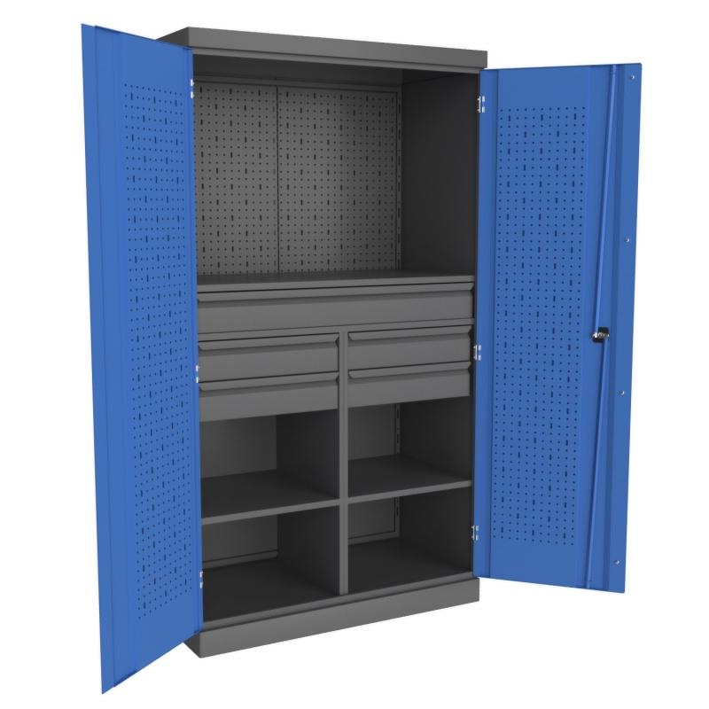Металлические инструментальные шкафы PROFFI (с короткой перегородкой)