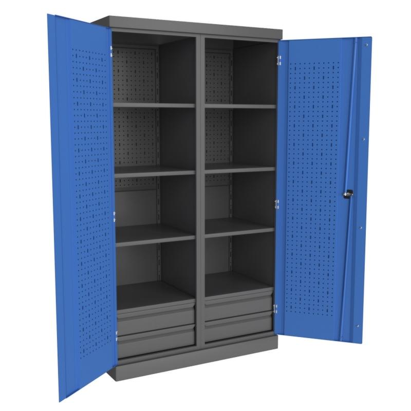 Металлические инструментальные шкафы PROFFI (с перегородкой)