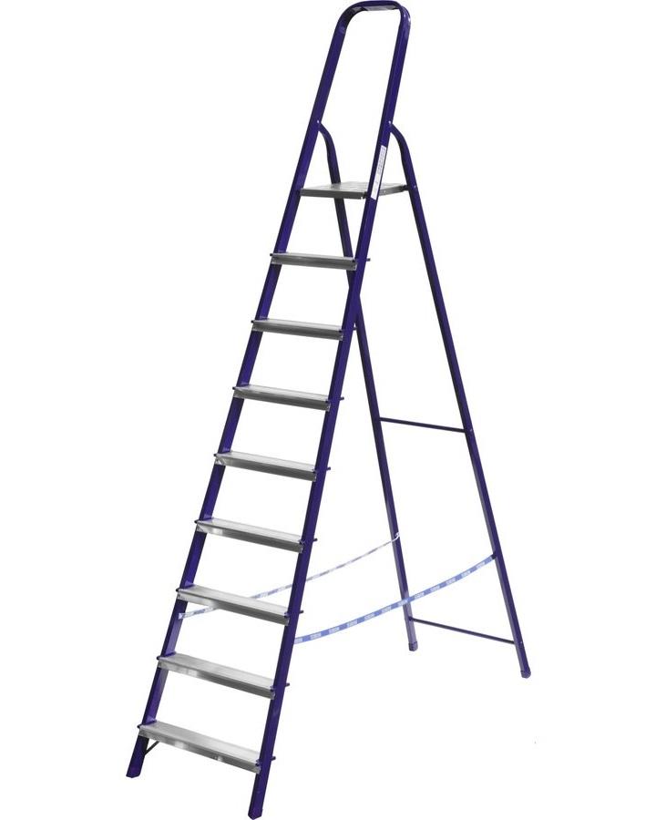 Стремянка стальная окрашенная 9 ступеней