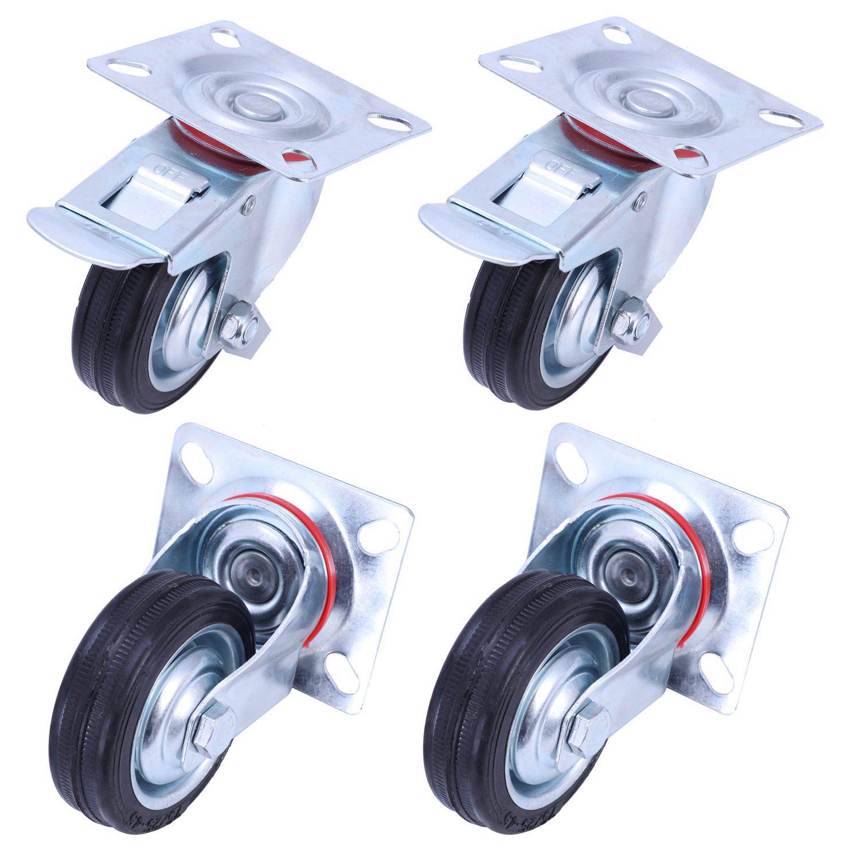 Комплект поворотных колес ∅ 200 мм (4 шт)